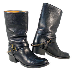 RALPH LAUREN COLLECTION Isis Stirrup Harness Boots